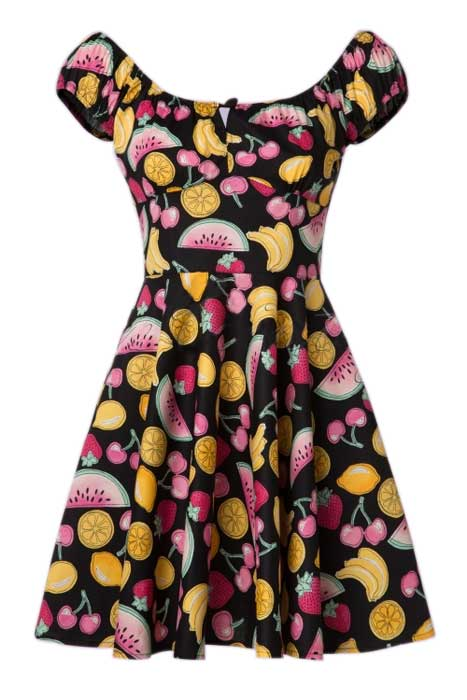 Tutti Frutti Mini Dress Black framsida