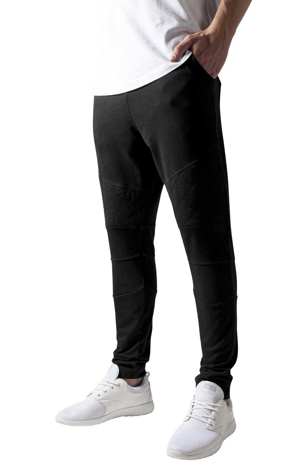 Diamond Stiched Sweat Pants Black