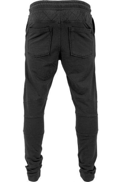 Diamond Stiched Sweat Pants Black