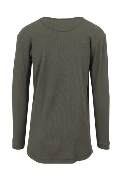 Long Shaped Waffle L/S Tee Olive Green