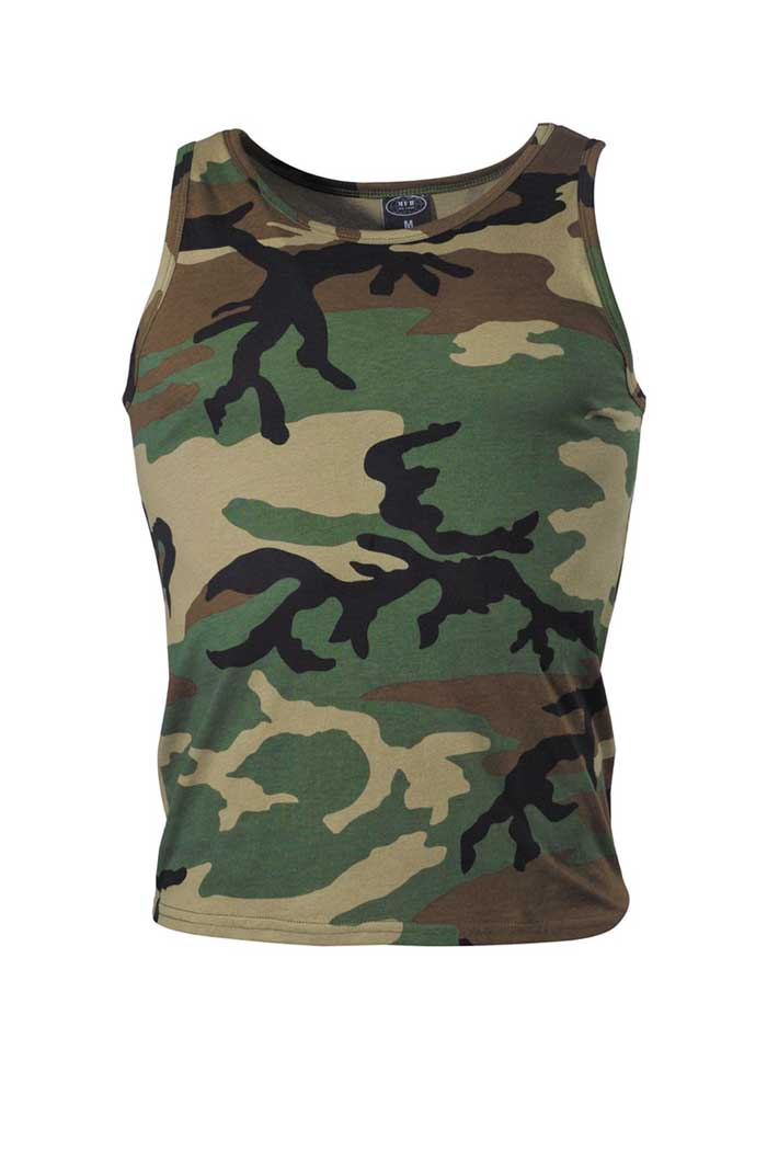 US Tank Top Woodland Camo