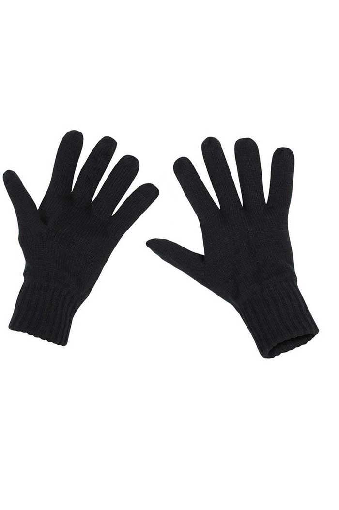 Knitted Fingergloves Black