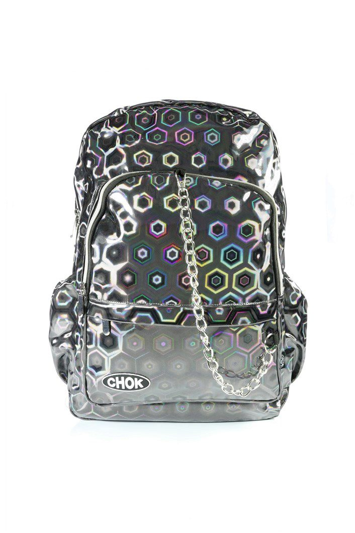 Holographic 3D Grey Backpack