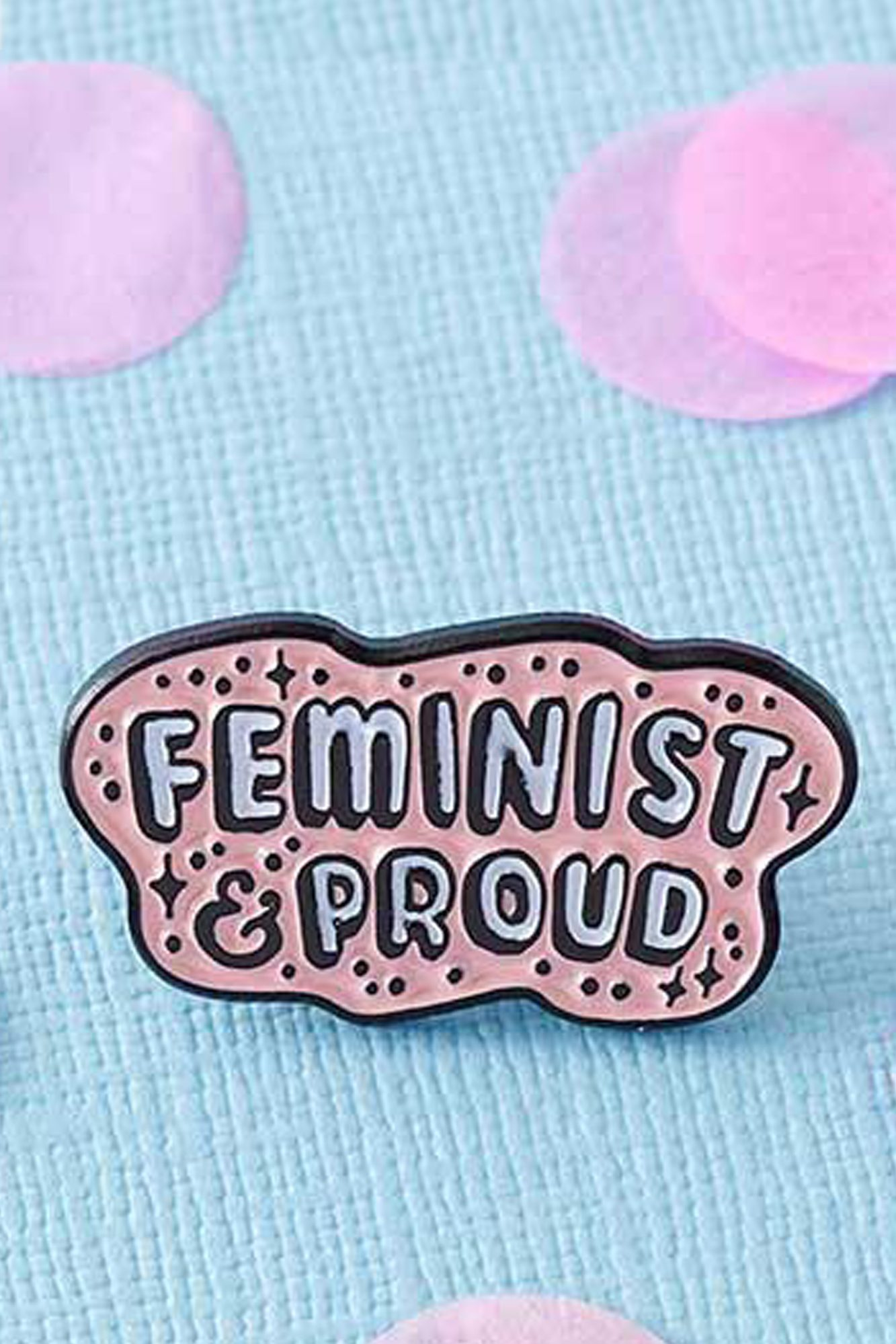 Feminist And Proud Enamel Pin