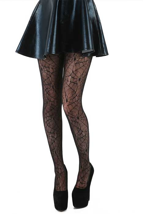 All Over Cobweb Lace Tights