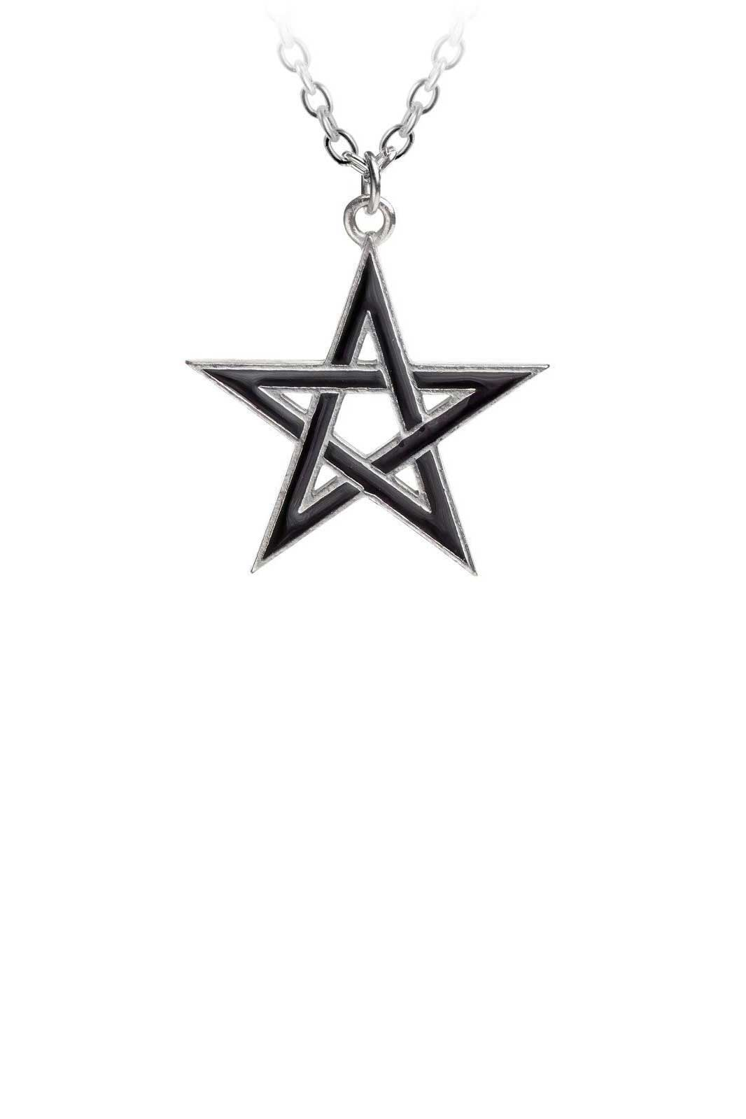 Black Star Pendant halsband Alchemy