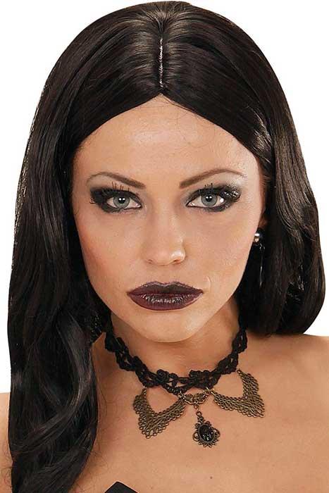 Black Strass Pendant & Roses Gothic Choker
