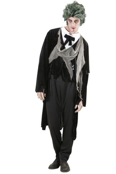 Zombie GentlemanJacket w. Shirt, vest and Bow tie