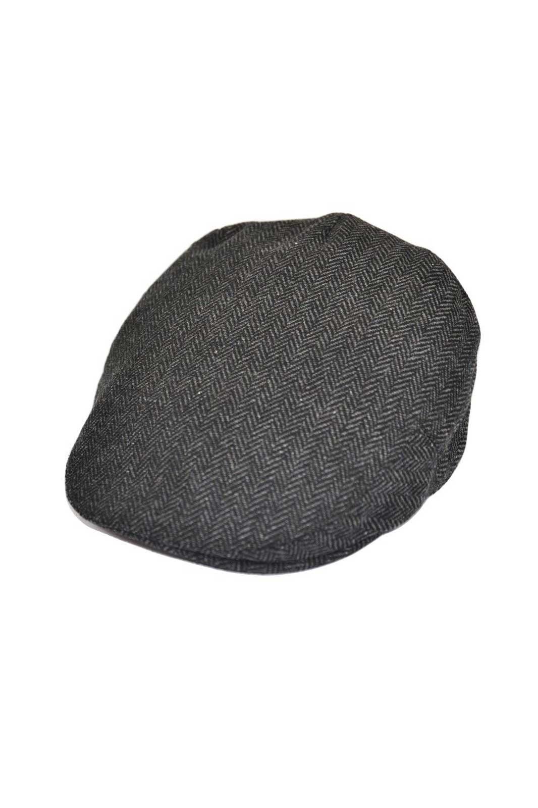 G&H Herringbone Flat Cap Grey