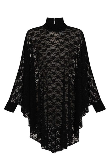 Lydia Lace Drape Dress Black framsida