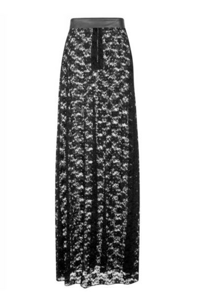 Lydia Lace Maxi Skirt Black