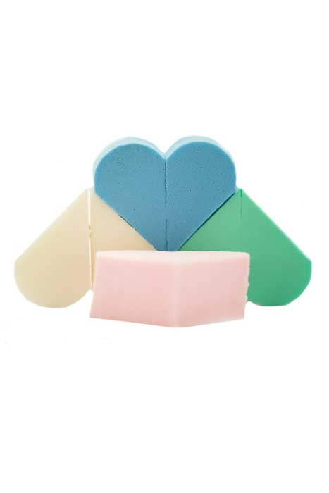 Make-Up Sponges Hearts