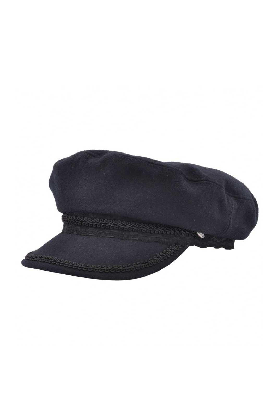 Maz Wool Fiddler Cap Navy Blue