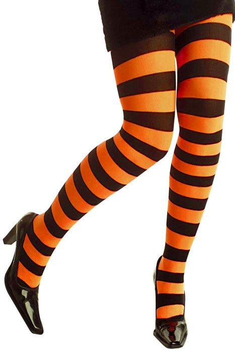 Neon Striped Panthose Orange