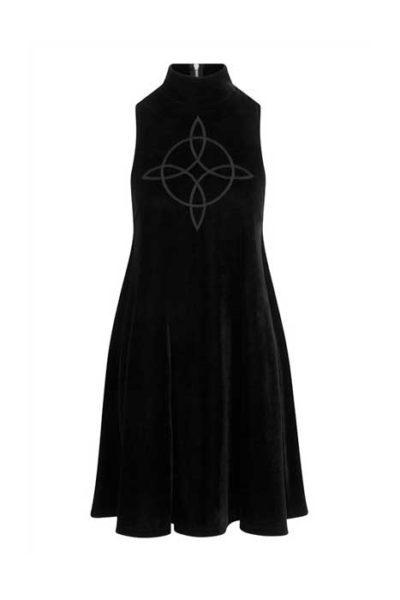 Phoebe Velvet Mini Dress Black