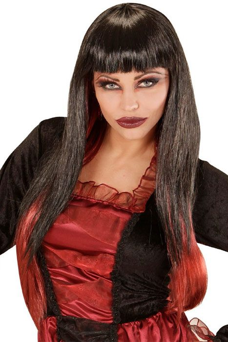 Black/Bordeux Vampiria Wig