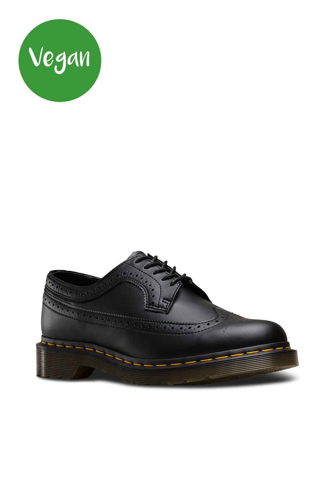 3989 Vegan Brouge Shoe Black