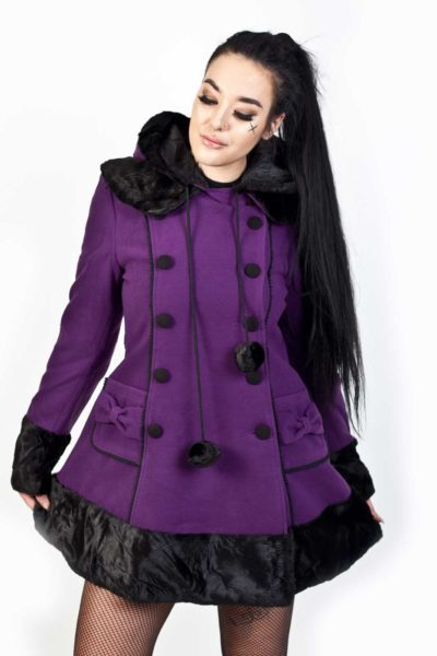 Sarah Jane Coat Purple
