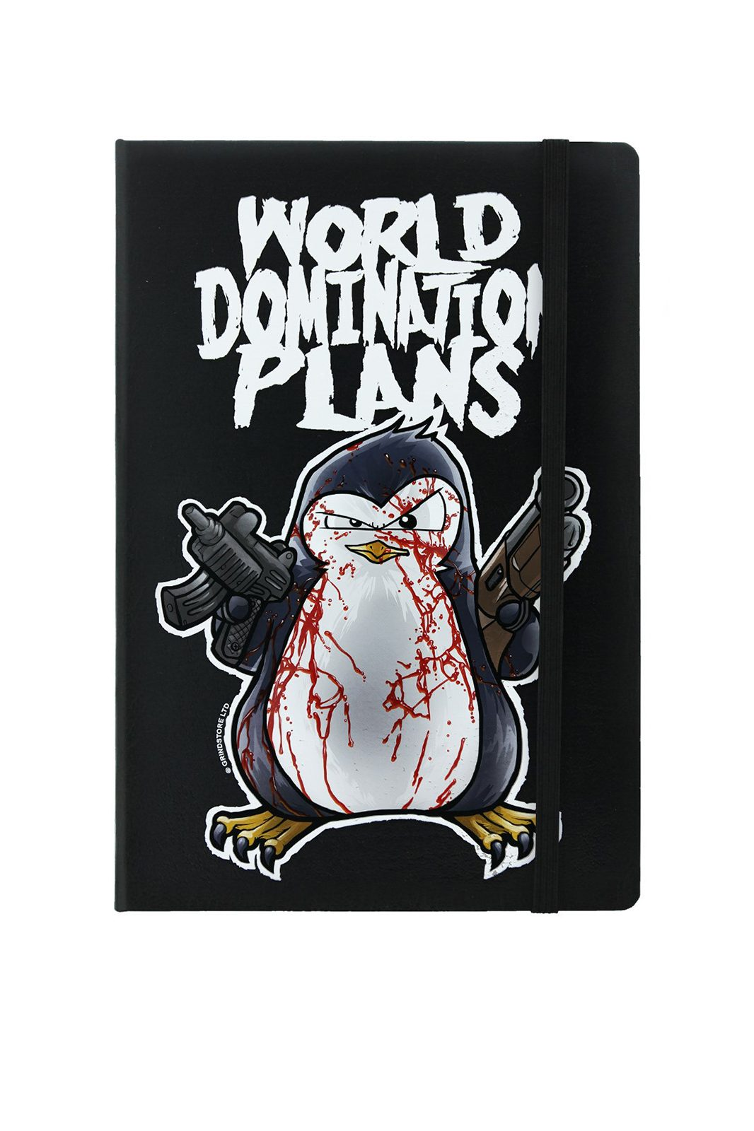 Psycho Penguin World Domination Plans Notebook