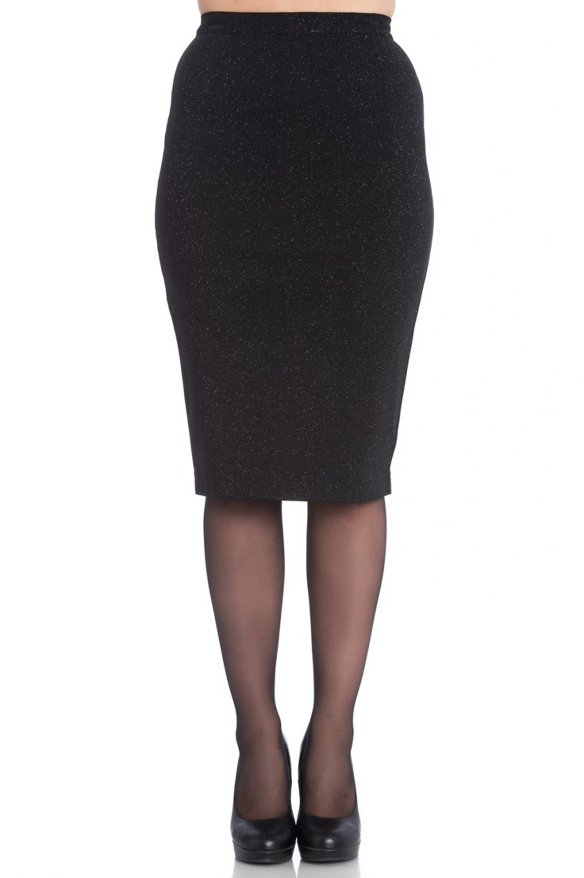 Nebula Pencil Skirt Black