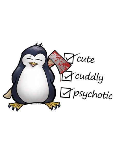 Vest Cute, Cuddly & Psychotic White