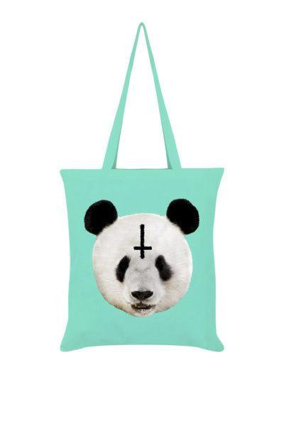 Unorthodox Panda Mint Green Tote Bag