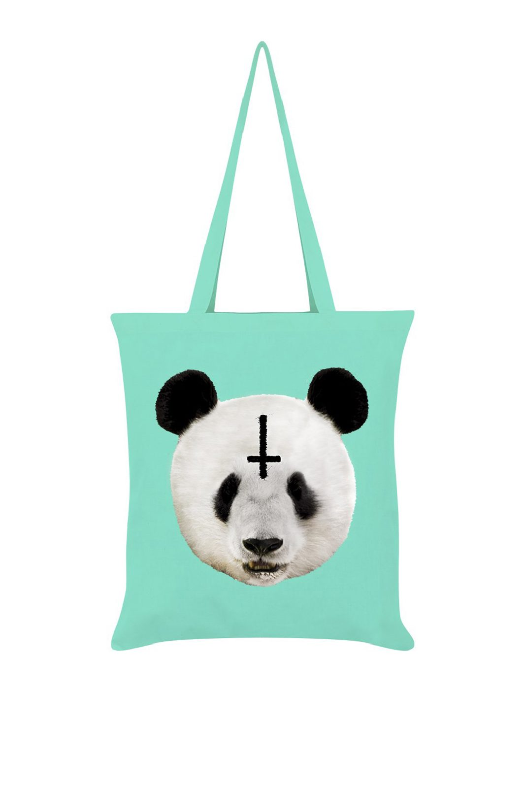 Unorthodox Panda Mint Green Tote Bag