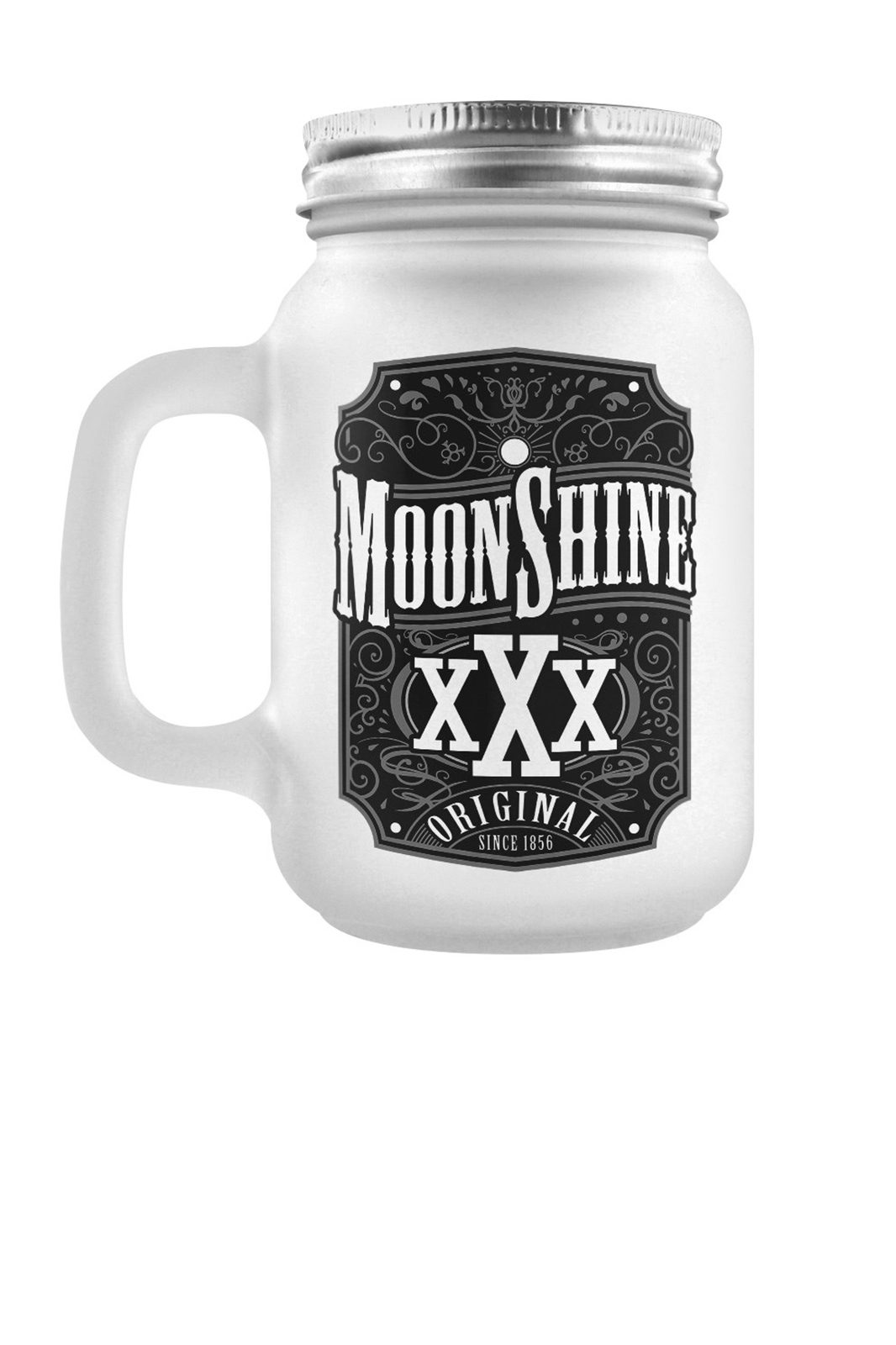 Moonshine Frosted Mason Jar