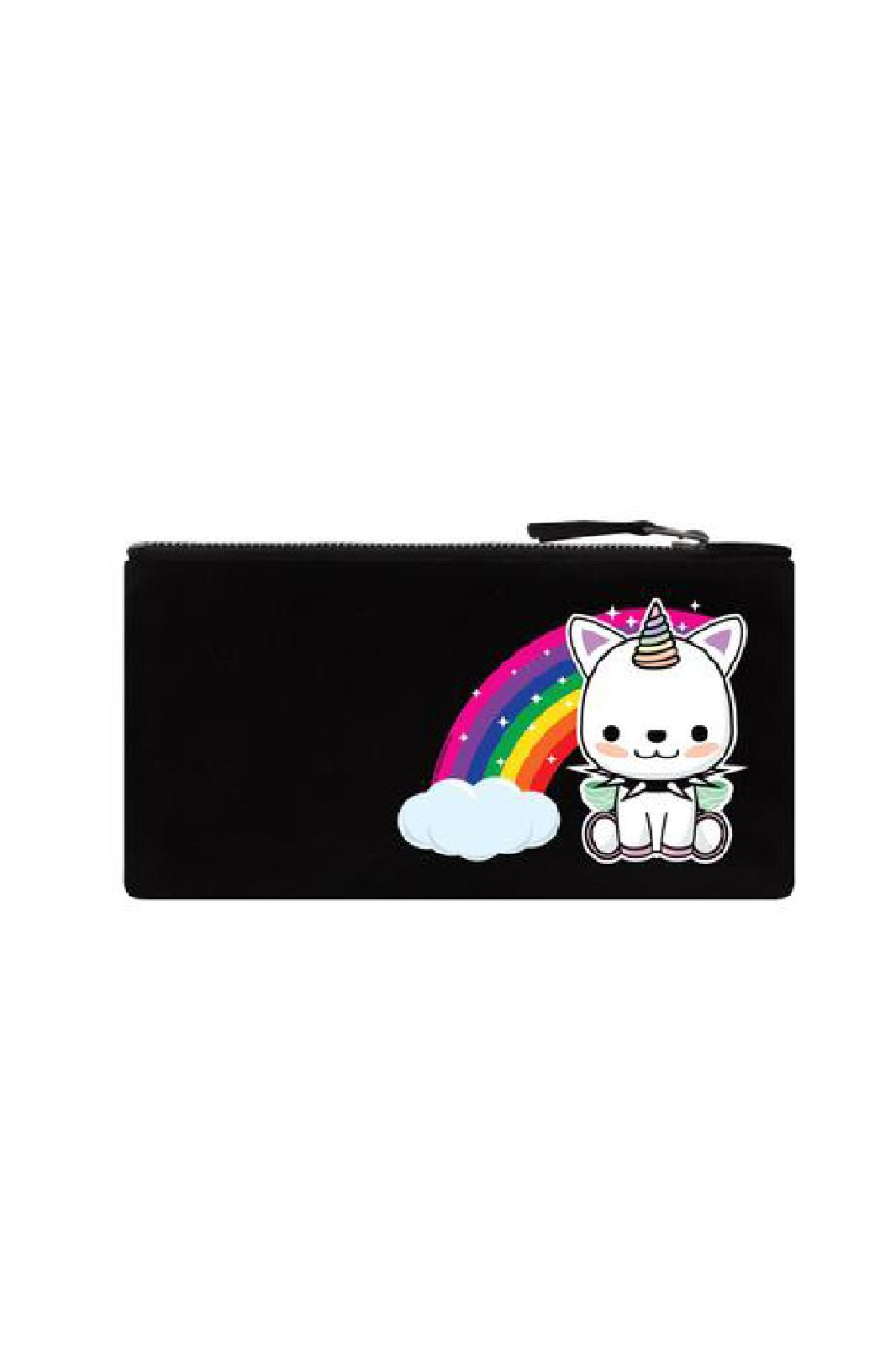 Rock Unicorn Black Pencil Case