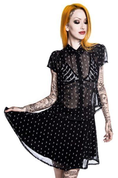 Aurora Im A Mystery Skater Skirt Black