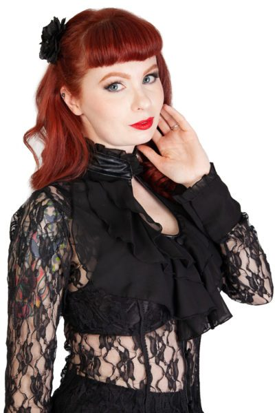 Crimson Lace Top Black