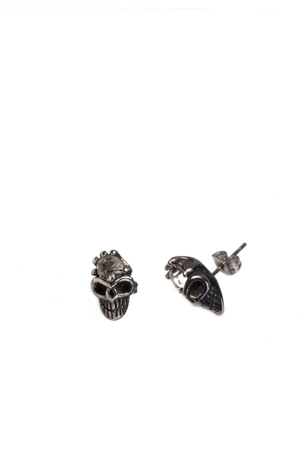 Skull Gem Studded Earrings