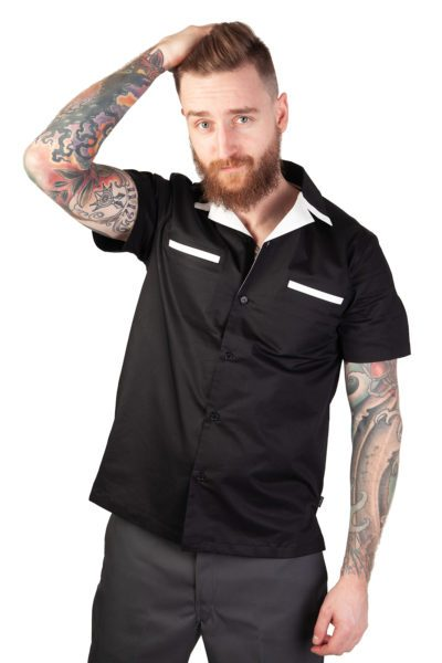 Donnie Bowling Shirt Black