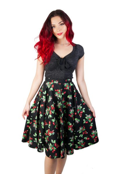 Cherie 50's Skirt Black