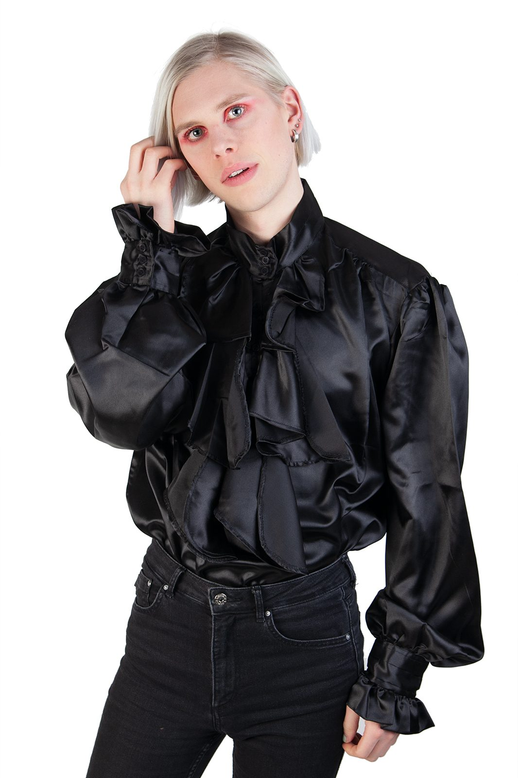 Satin Shirt Black