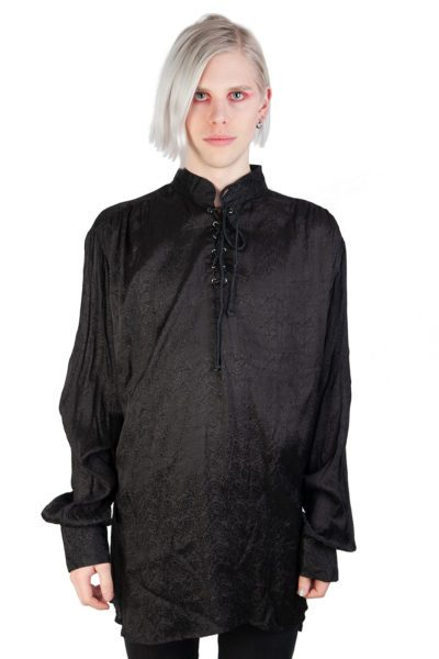 Shirt In Brocade Black