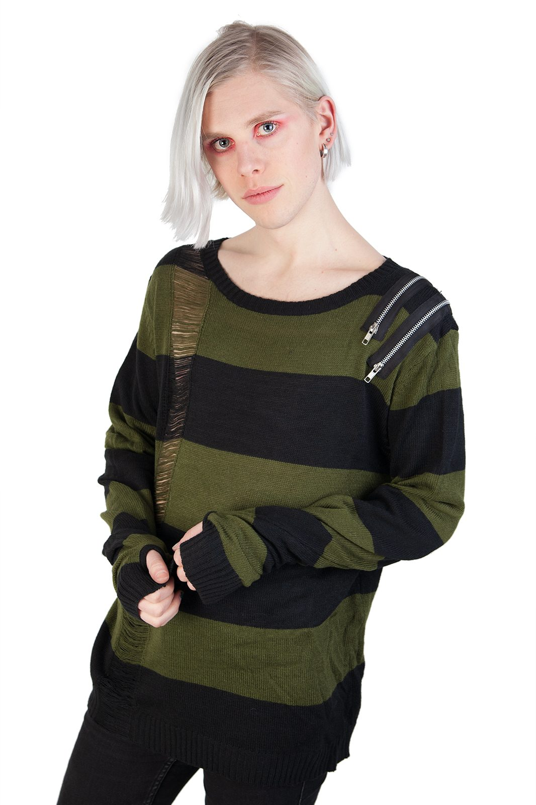 Drop Dead Shirt Olive Black