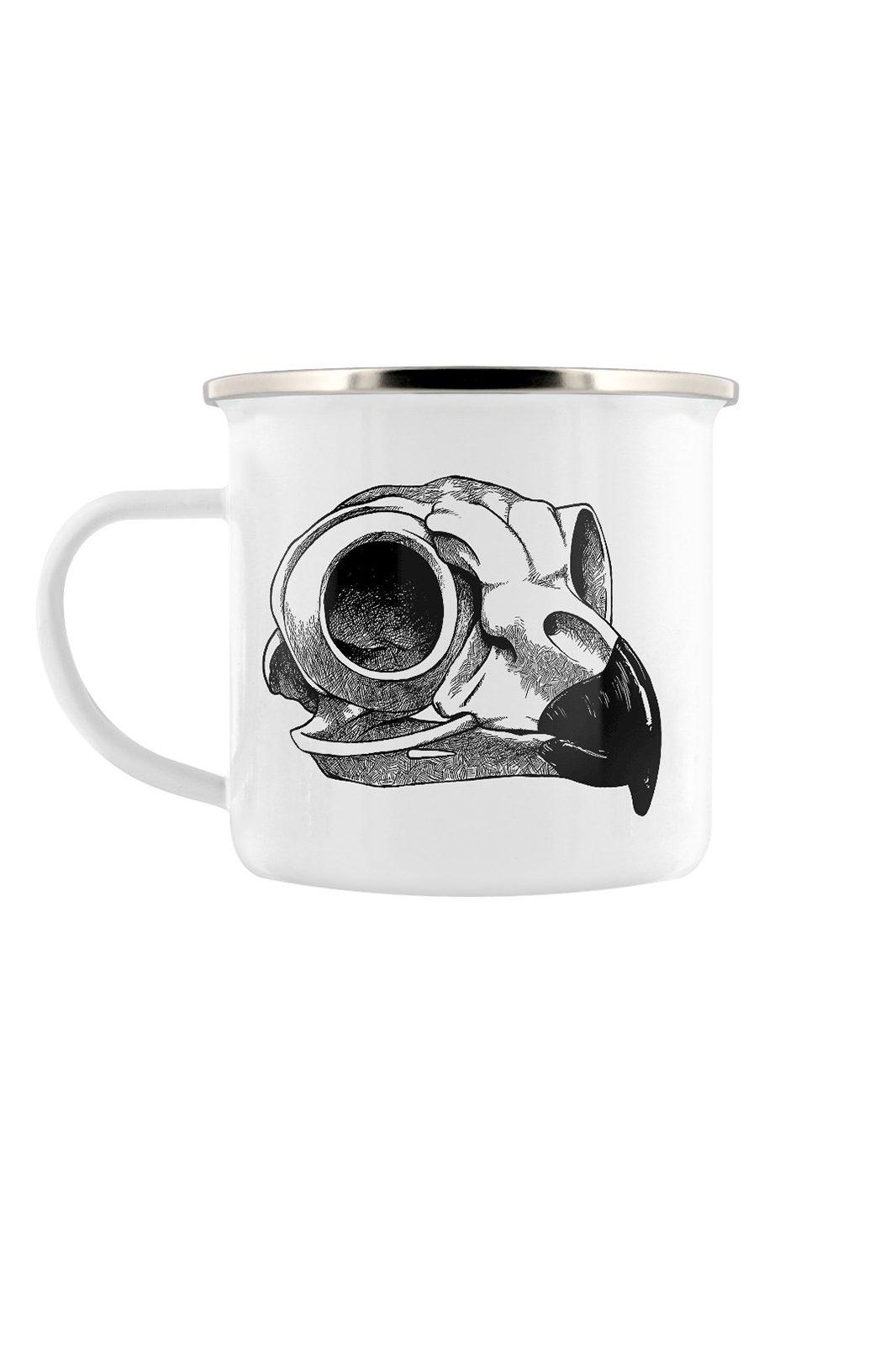 Aquila Skull Enamel Mug
