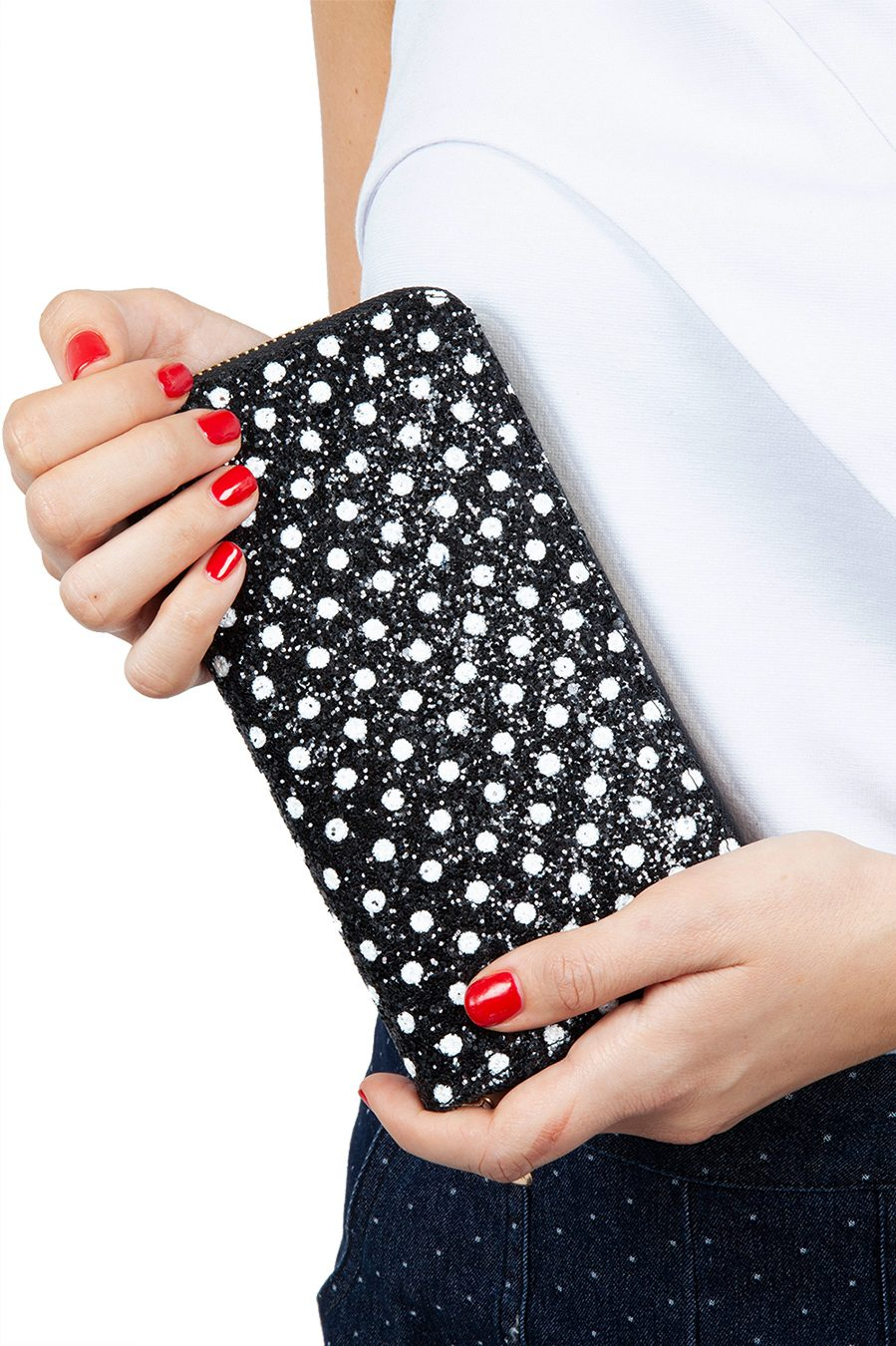Dotty Glitter Polka Dot Purse