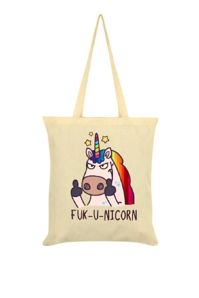 Fuck-U-Nicorn Cream Tote Bag