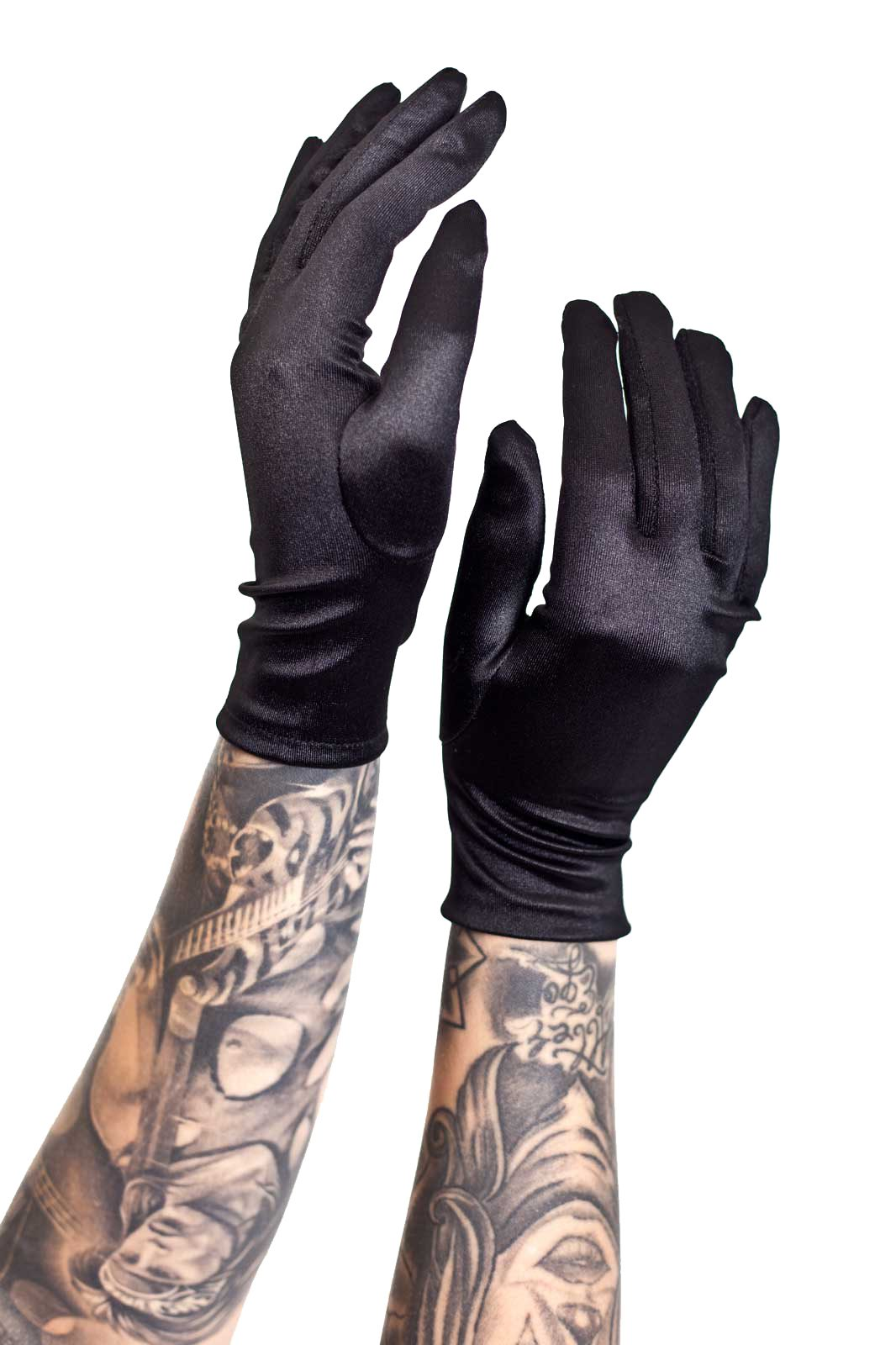 Short Lycra Finger Gloves