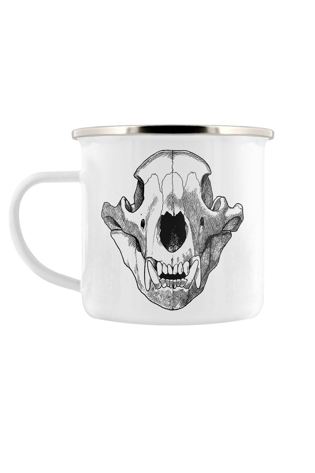 Ursa Skull Enamel Mug