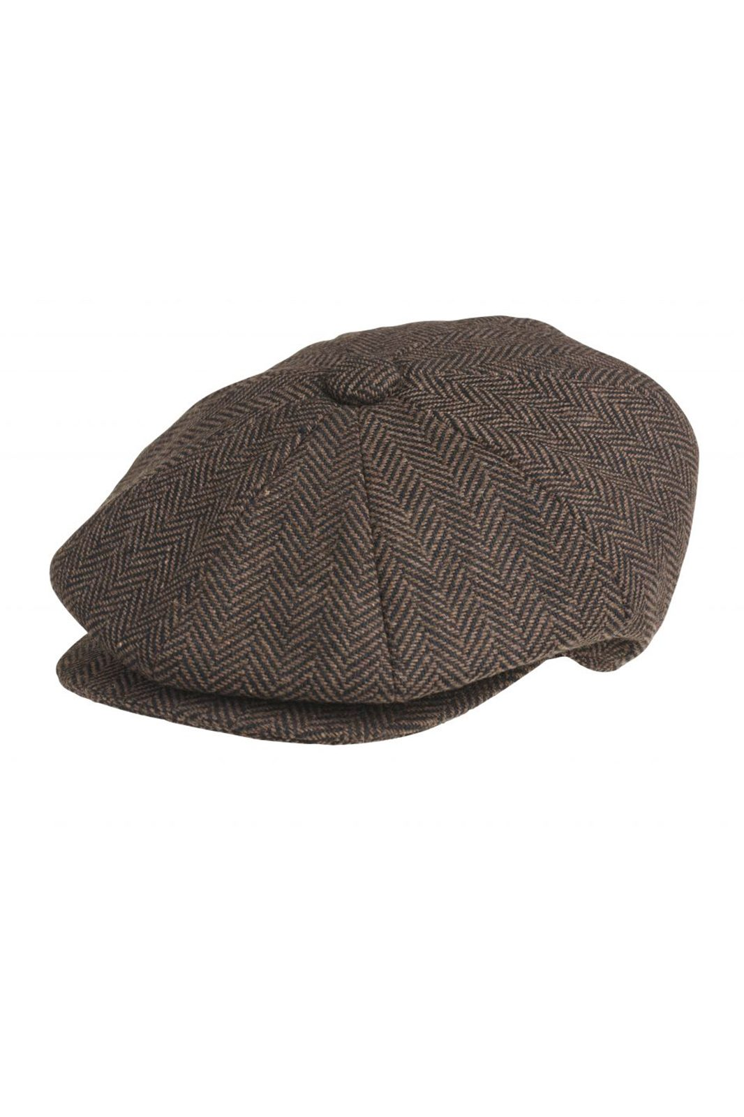 Newsboy Cap Herringbone Brown