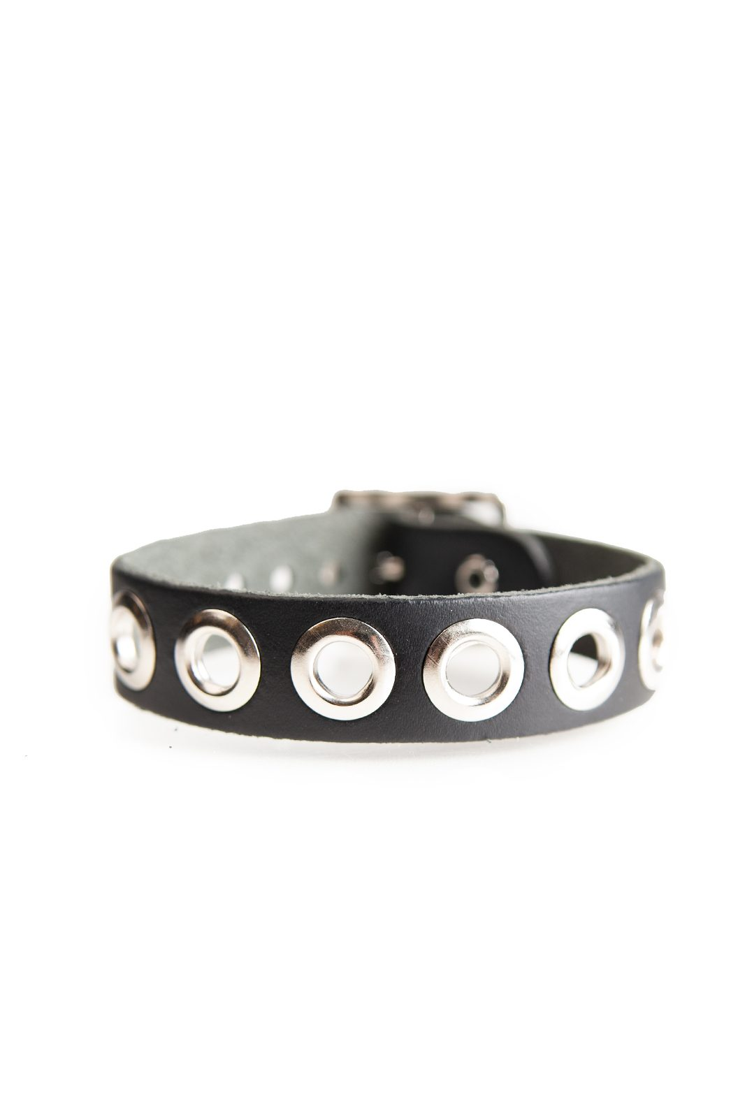 1 Row Eyelet Leather Wristband