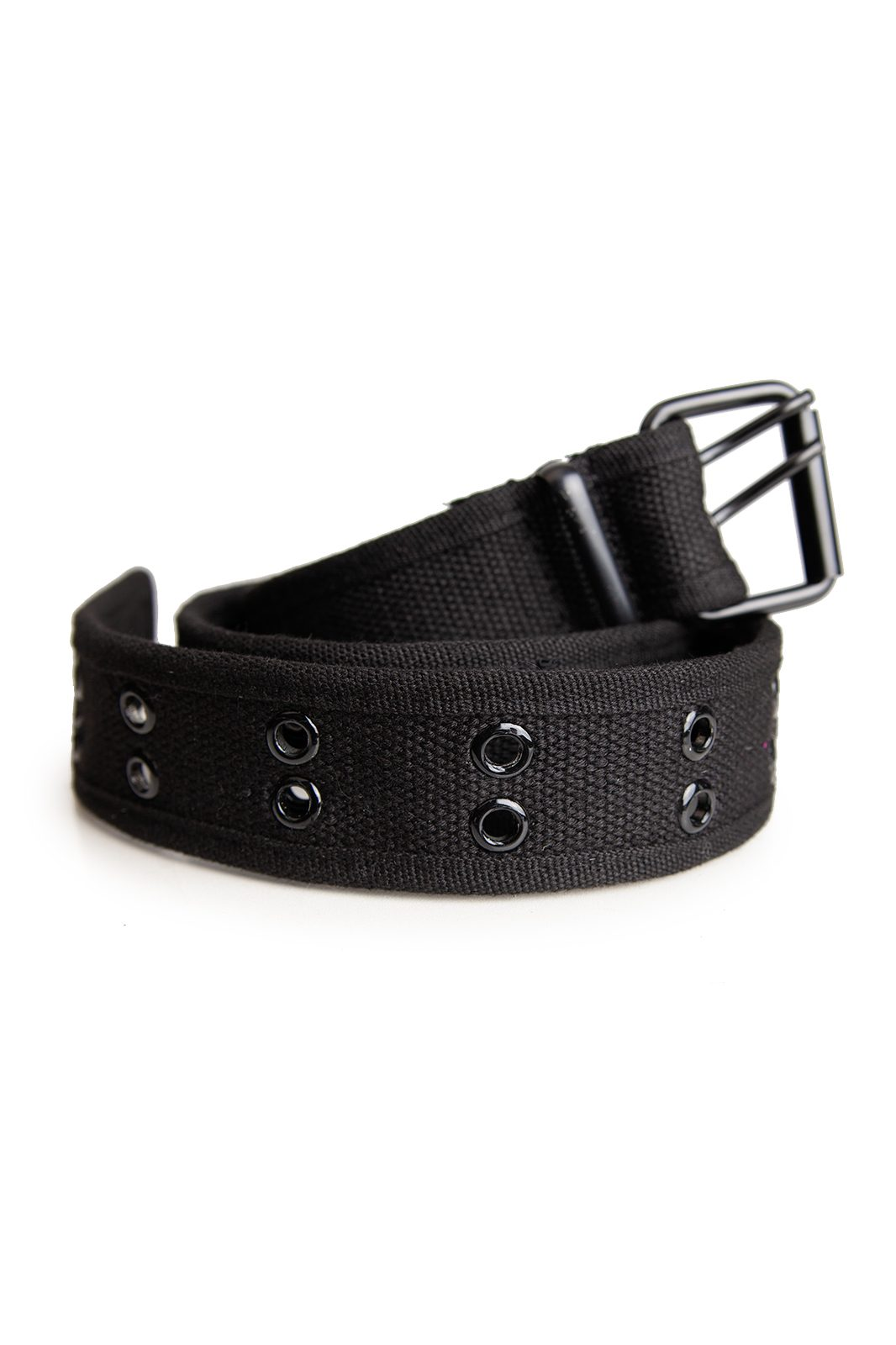 2 Row Eyelet Belt Black