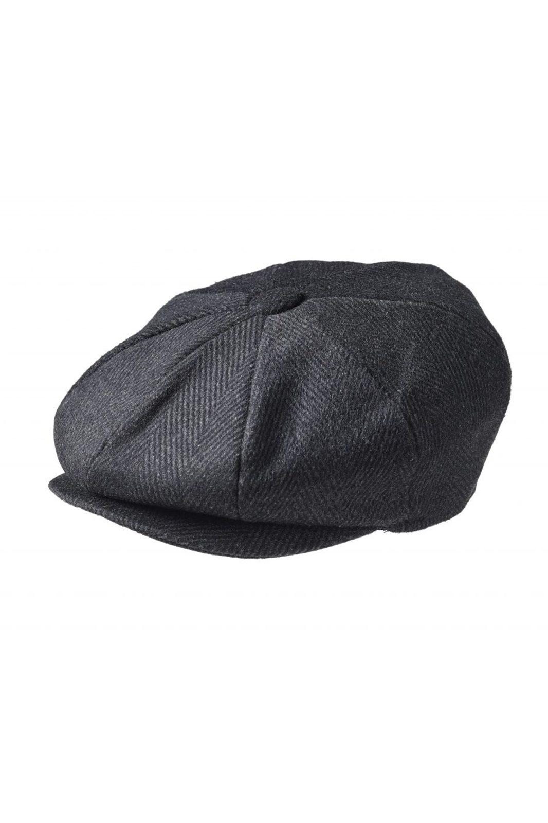 Newsboy Cap Pinstripe Black