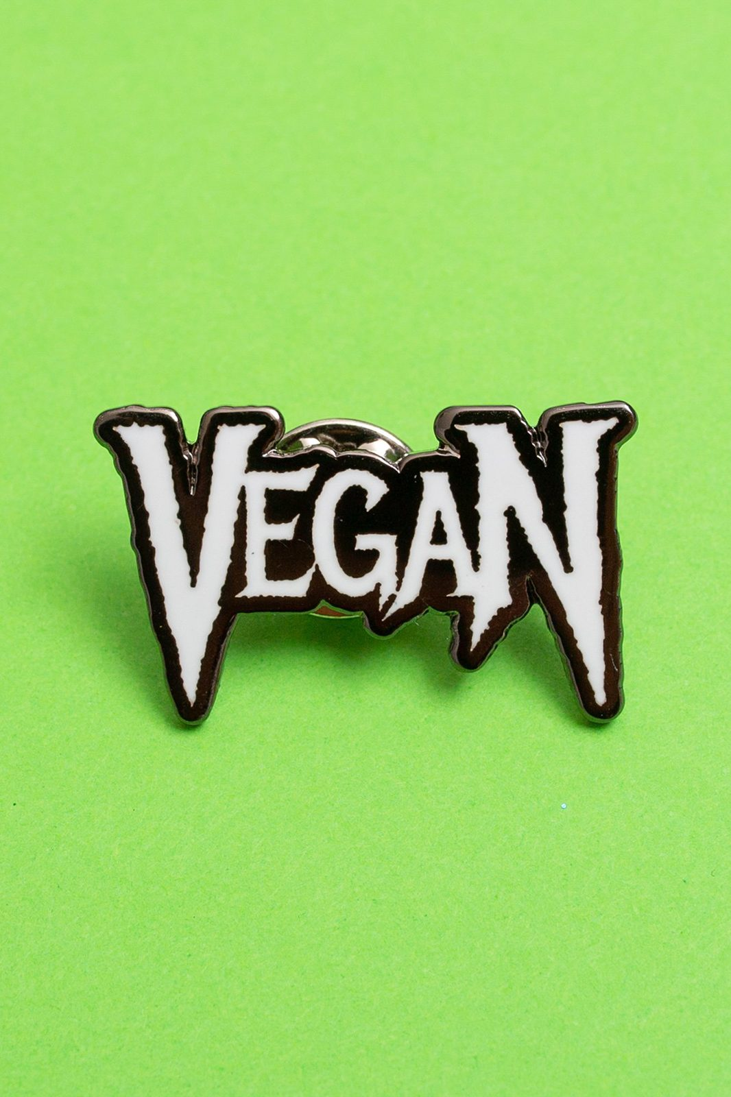 Metal Vegan Enamel Pin