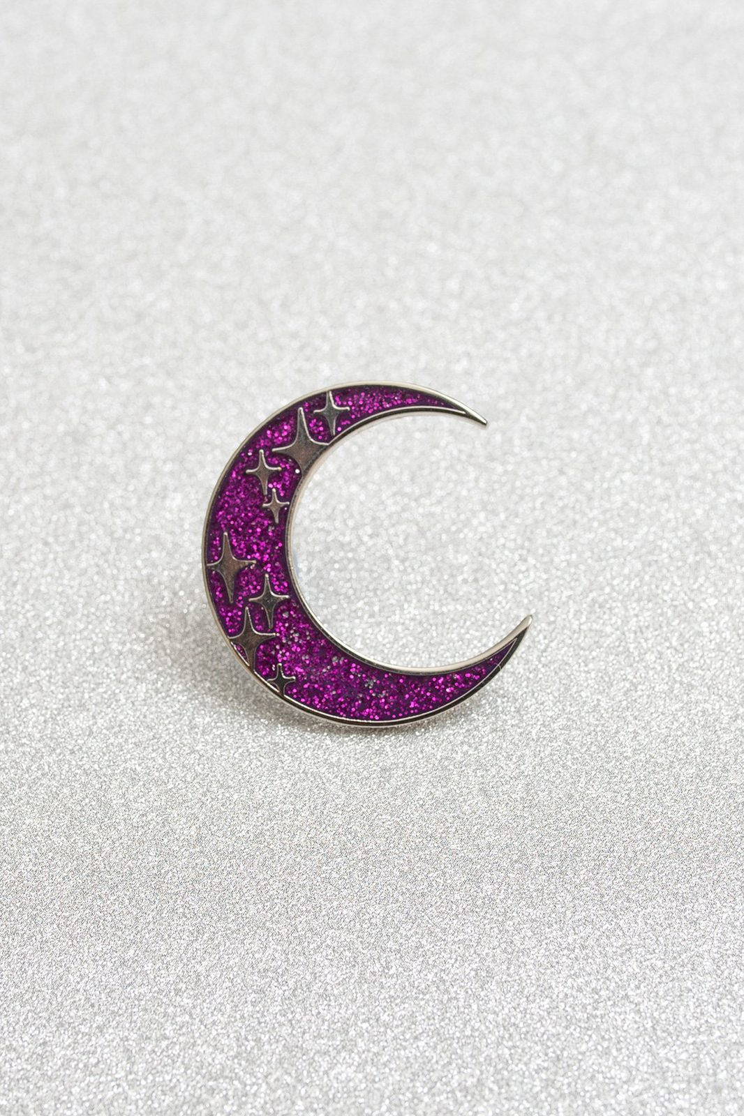 Galaxy Moon Enamel Pin