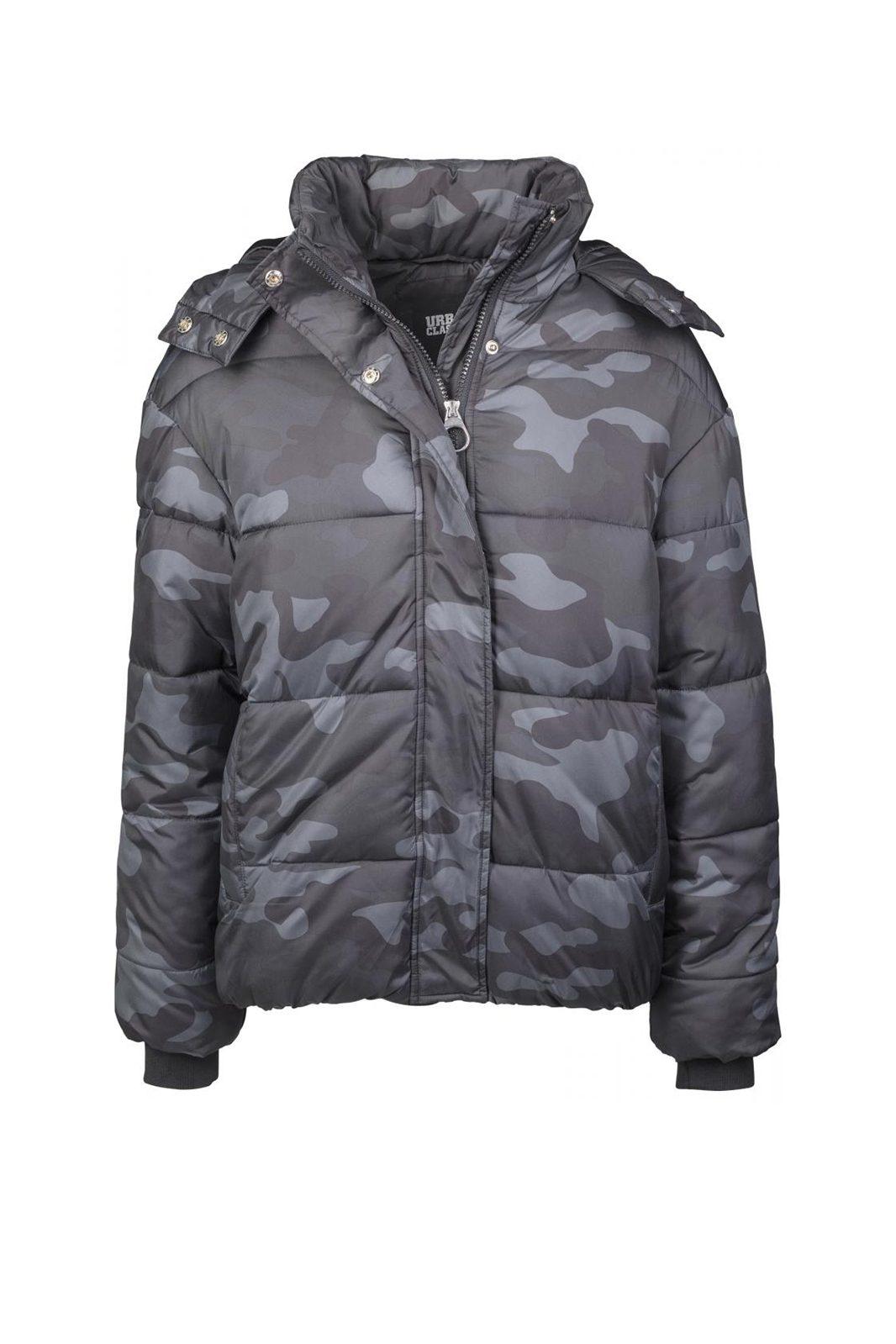 Boyfriend Dark Camo Puffer Jacket Camo
