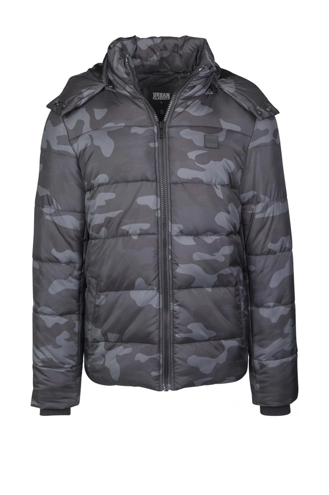 Hooded dark camo Puffer Jacket Camo